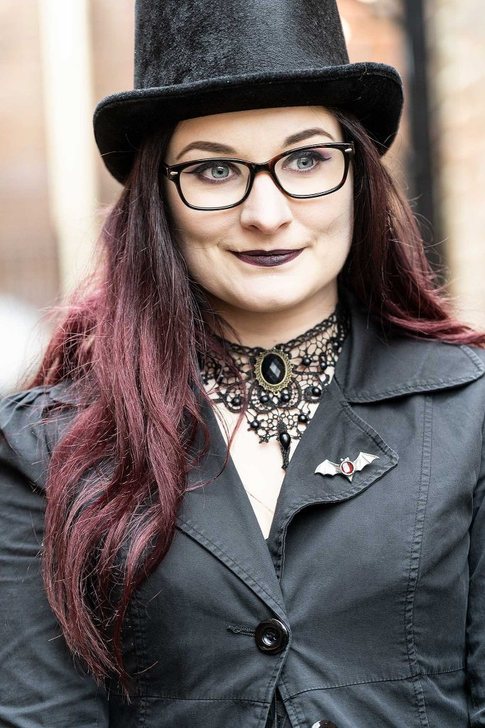 Beautiful Woman at Whitby Goth Weekend April 2019