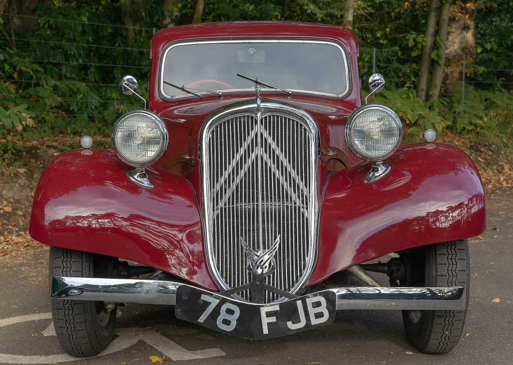Classic car parked up at Holt Railway Station