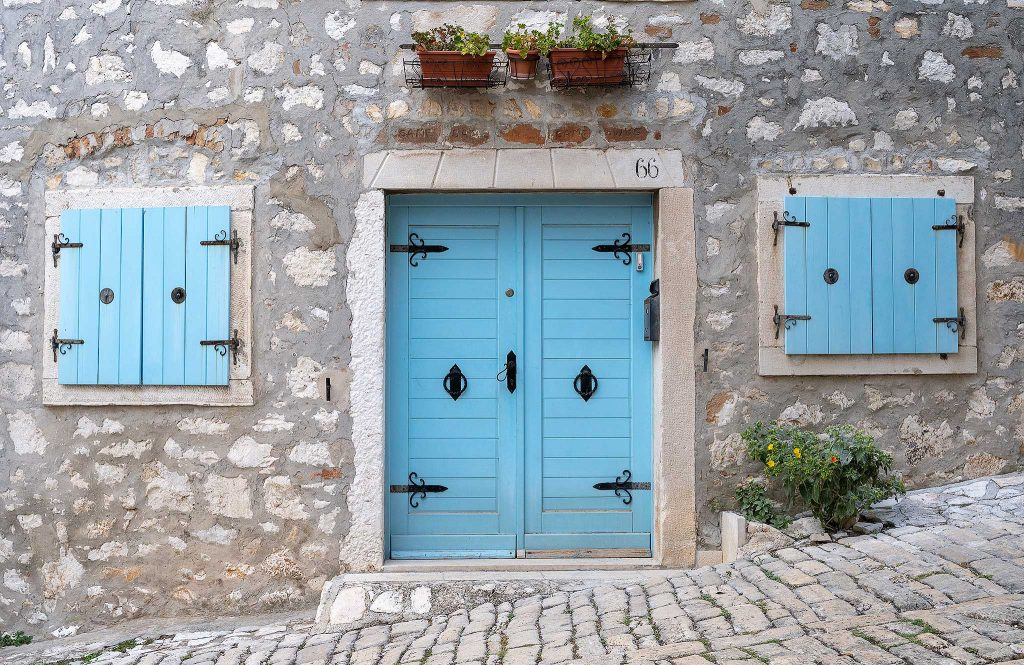 Blue door in Rovinj